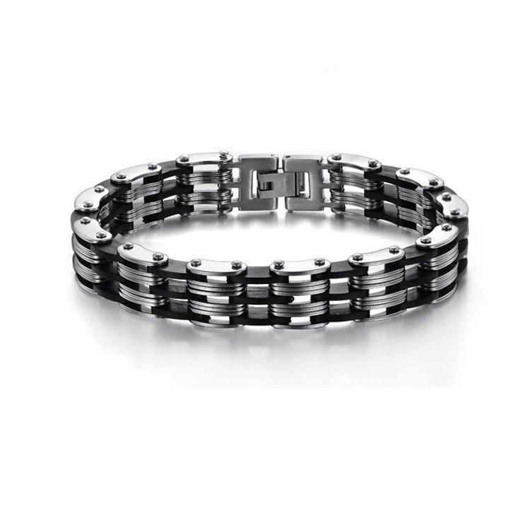 【5折超值價】 情人節禮物最新款熱銷經典時尚個性款鈦鋼手鍊
