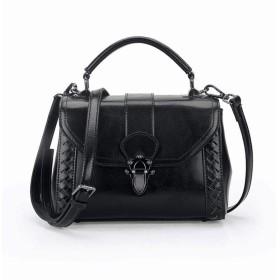 YIYUTING レディース財布サッチェルショルダーバッグトートバッグ女性レディースレザーハンドバッグのためのハンドバッグ (色 : 黒)