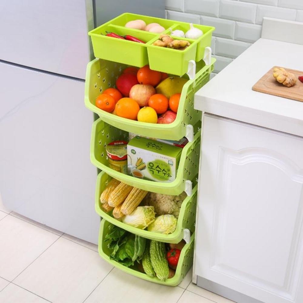 果蔬收納筐廚房蔬菜置物架落地多層菜筐廚房用品儲物架菜架子菜籃 MKS 免運 年貨節預購