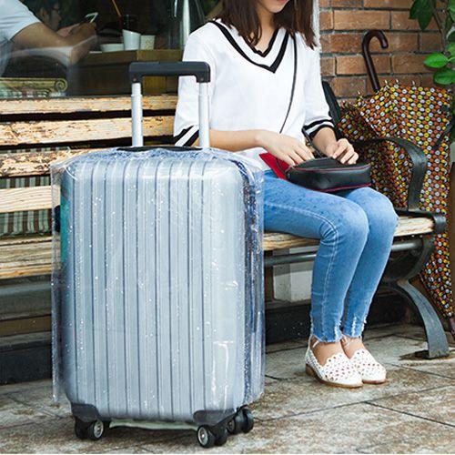 ✤宜家✤22吋行李箱透明加厚耐磨防水保護套 拉桿箱套 旅行箱套