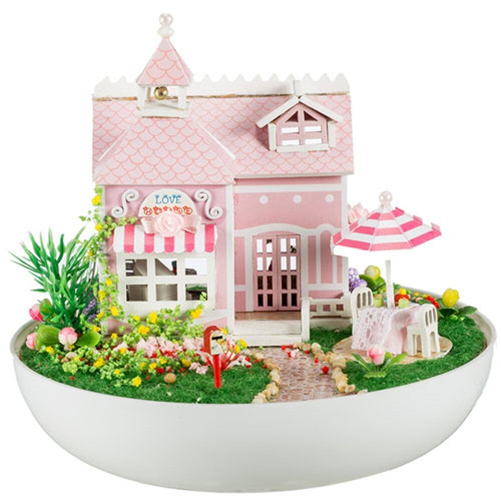 ✤宜家✤【WT16122314】 手製DIY小屋 手工拼裝房屋模型建築 -戀愛屋語