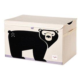 3 Sprouts 大型玩具收納箱 黑熊
