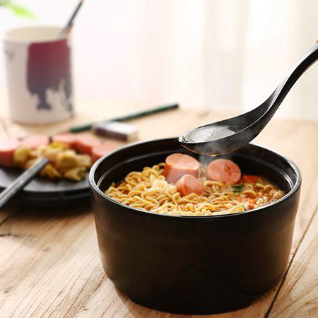 加厚泡面碗帶蓋日式大號家用碗筷套裝學生宿舍有蓋飯碗   LannaSSUPER 全館特惠9折