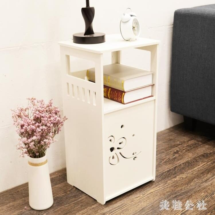 床頭柜 現代簡約雕花多功能儲物收納柜 ZB929
