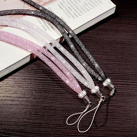 手機掛繩女款掛脖繩韓國個性創意潮女手機殼通用水鉆珠子長掛飾鏈