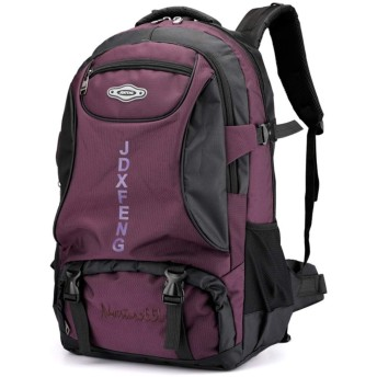 YIYUTING バックパックトラベルバッグスポーツ大容量バックパック女性の旅行バックパック登山バッグ (色 : ワインレッド)