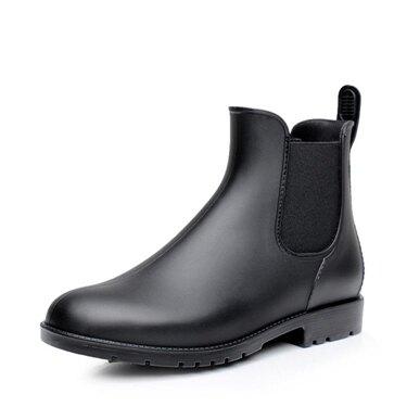 雨牧時尚防滑雨鞋男成人防水鞋套鞋低幫馬丁雨靴男大碼短筒水靴  聖誕節禮物