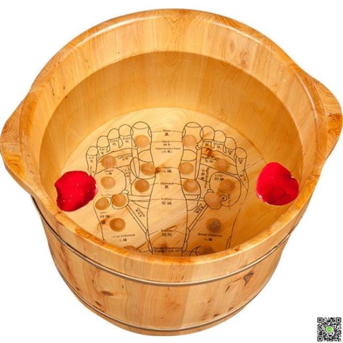 木桶 香柏木泡腳木桶足浴盆泡腳桶木桶女洗腳盆穴位按摩桶木盆家用