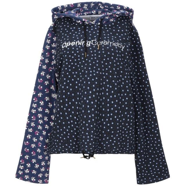 《セール開催中》OPENING CEREMONY レディース スウェットシャツ ダークブルー XS コットン 100%