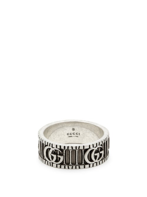 Gucci - GG Marmont Silver Ring - Mens - Silver