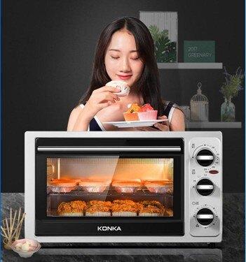 電烤箱家用烘焙機多功能全自動烤箱小型30升大容量焗爐考箱  聖誕節禮物