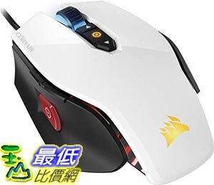 【美國代購】CORSAIR M65 Pro RGB - FPS遊戲滑鼠- 可調節DPI狙擊按鈕 重量 - 白色