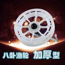 【八卦魚輪-10cm(帶軸承,無手柄)-2套/組】PVC 傳統垂釣線輪 採用加厚膠抗壓防裂開 八掛輪 傳統海竿線輪 大容量線輪-76016