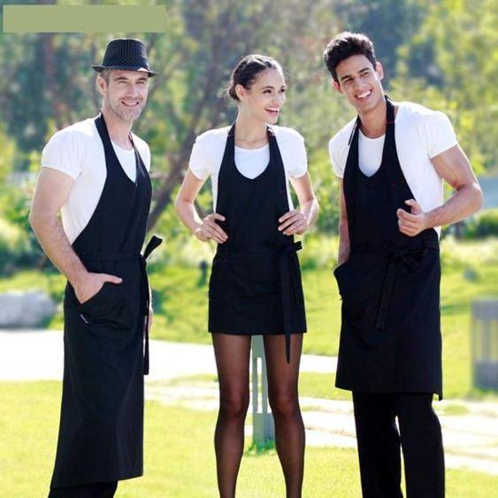 圍裙-圍裙工作服廚房家居做飯圍腰廚師咖啡店定制工作圍裙