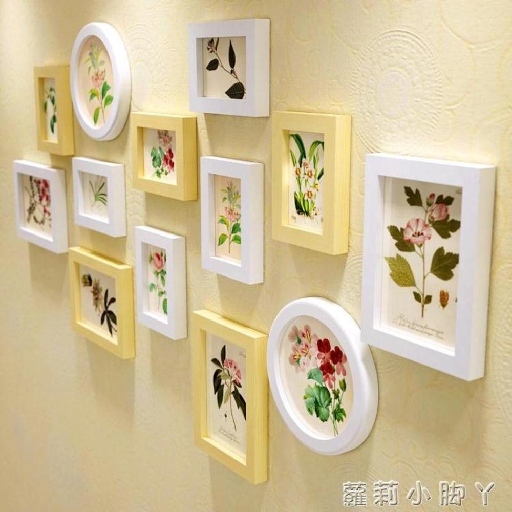 照片牆歐鋒實木質相框客廳臥室圓相框牆歐式兒童掛牆相框創意組合 NMS蘿莉小腳丫