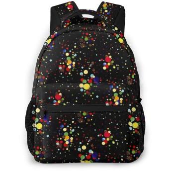 バックパック カラフルなドット Pcリュック ビジネスリュック バッグ 防水バックパック 多機能 通学 出張 旅行用デイパック