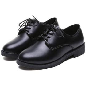 [JGFI] オックスフォードシューズ 革靴 ローファー レースアップ 本革 太めヒール ウイングチップ 美脚 23.0cm 通勤 おじ靴 レディース パンプス ブラック 痛くない チャンキーヒール 男女兼用 軽い 歩きやすい 春夏 使いやすい 疲れない カジュアル