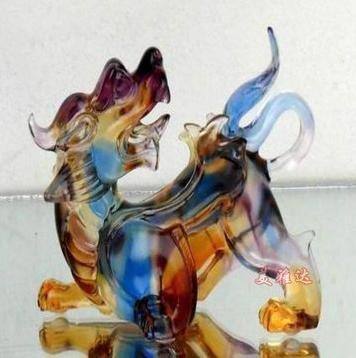 琉璃工藝品高檔商務禮品開業送禮扭轉乾坤琉璃擺件
