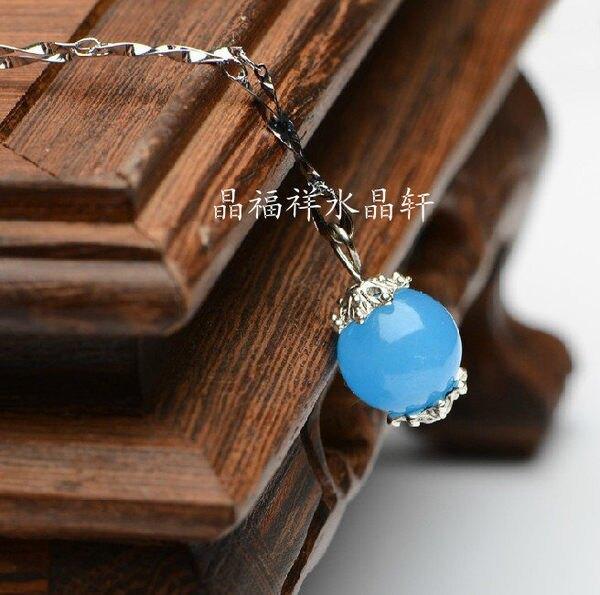 藍玉髓項墜流行飾品