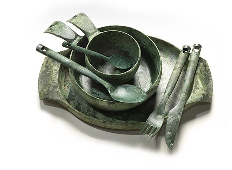 ├登山樂┤芬蘭 KUPILKA 松木餐具豪華組(木盒包裝)- 松葉綠 #30PR0312
