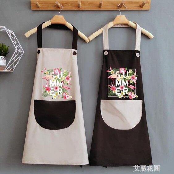 夏天可愛做飯女圍裙家用廚房防水防油日系大人工作圍腰圍布定制 喜迎新春