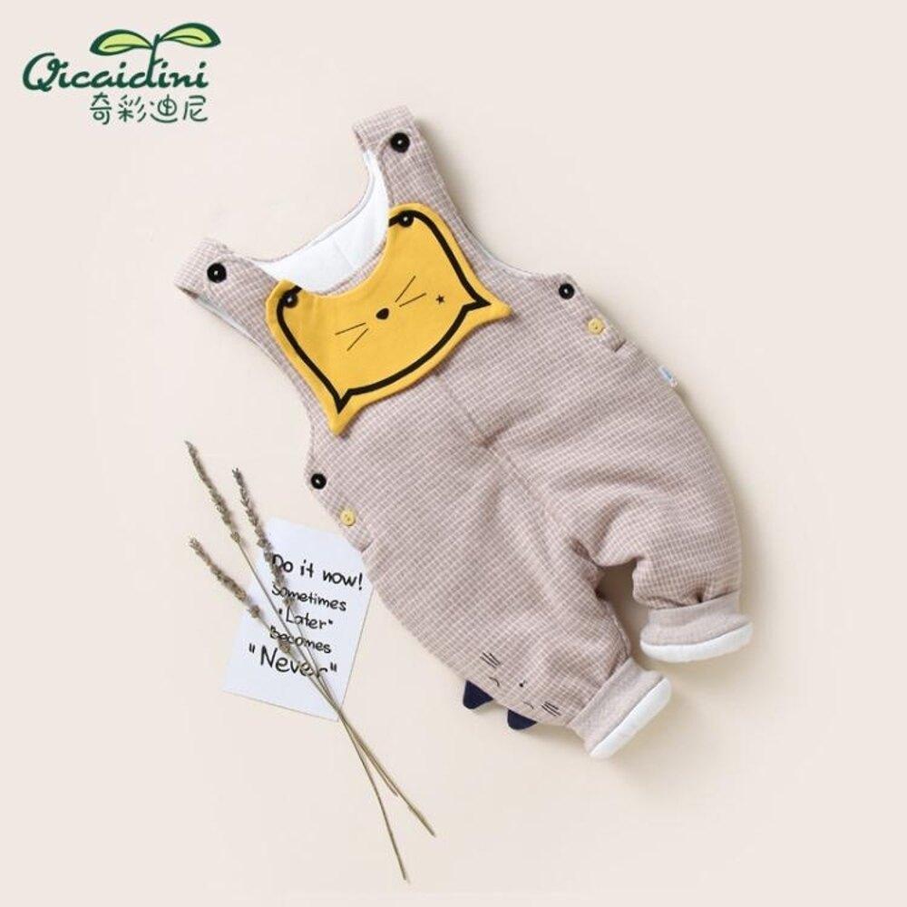 寶寶加厚背帶棉褲嬰兒吊帶褲男女童棉褲兒童夾棉保暖褲子 新春鉅惠