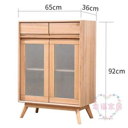 實木櫃子多功能儲物櫃現代簡約家用客廳邊櫃碗櫃小櫥櫃北歐餐邊櫃xw