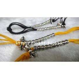 藏傳佛教佛珠手串念珠藏式925純銀念珠計數器 金剛鈴金剛杵