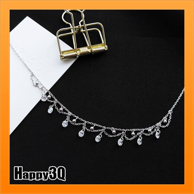 純銀頸鍊S925項鍊水鑽華麗鎖骨鏈淑女氣質飾品結婚韓風女生頸飾品【AAA4259】