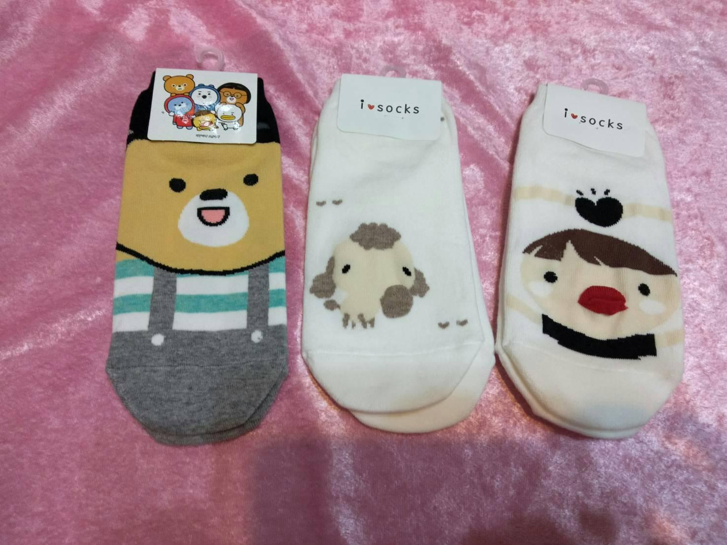 韓國少女襪(小熊、小羊、男童)