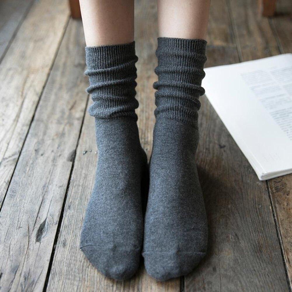 潮襪子女中筒襪棉質韓版學院風韓國春秋夏季百搭薄長筒襪女堆堆襪