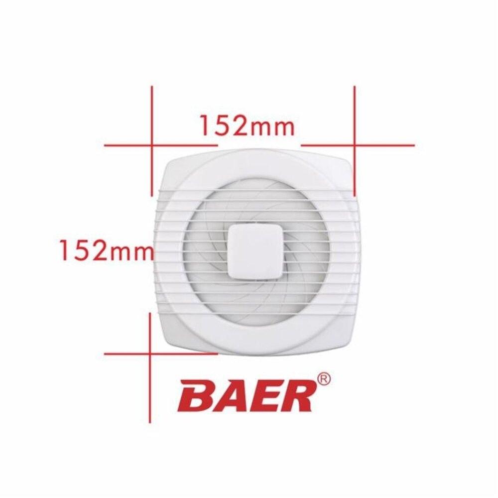 巴爾 4寸換氣扇 玻璃窗拉繩式110mm防水排氣扇 衛生間 【限時特惠】 LX