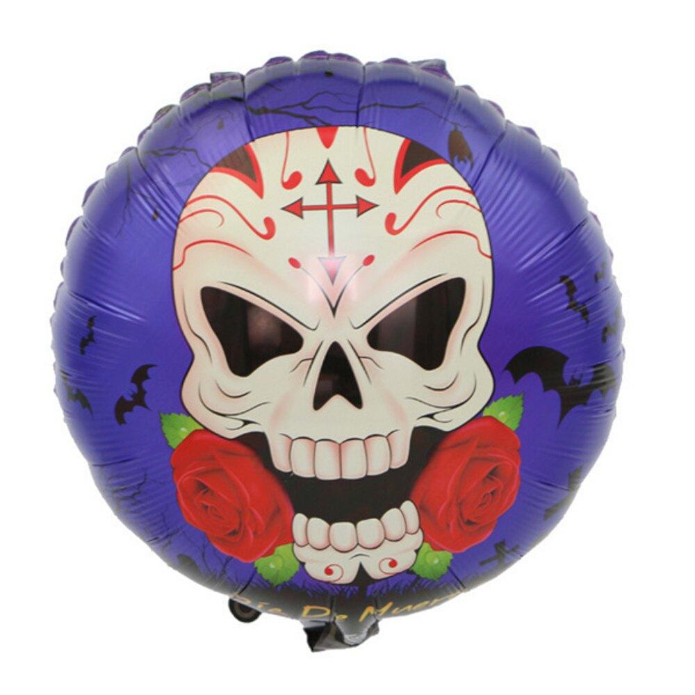 萬聖節暗黑18吋圓球鋁膜氣球 佈置【BlueCat】【HW0129】