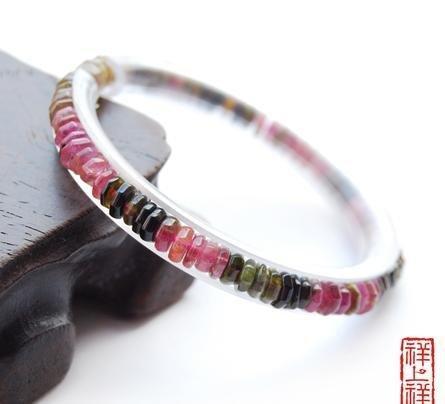 水晶 碧璽扁珠手鏈5MM 水晶之王 女人必備能量石