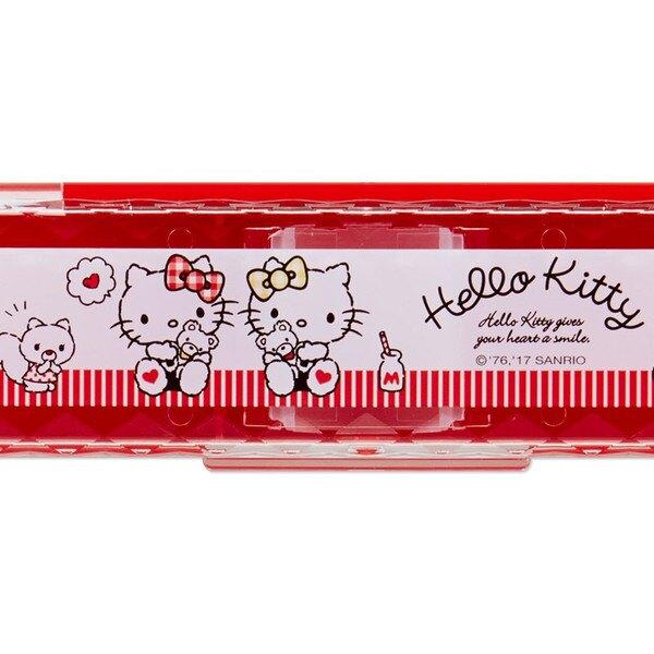Hello Kitty & Mimmy 二合一湯匙筷子餐具組,餐具組/環保餐具/開學必備/環保餐具/304/分隔/kitty/迪士尼,X射線【C501368】