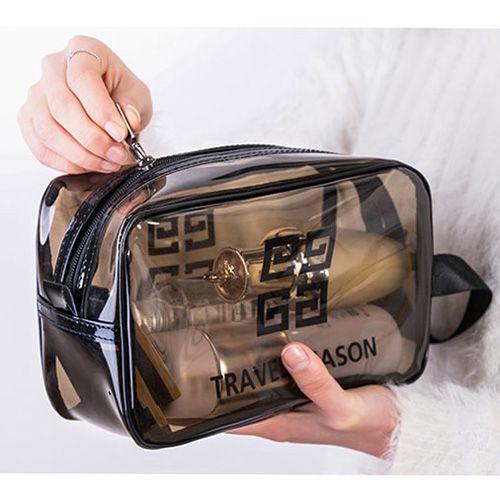 ✤宜家✤ins風網紅透明防水化妝包(小號) 旅行大容量洗漱包 收納袋