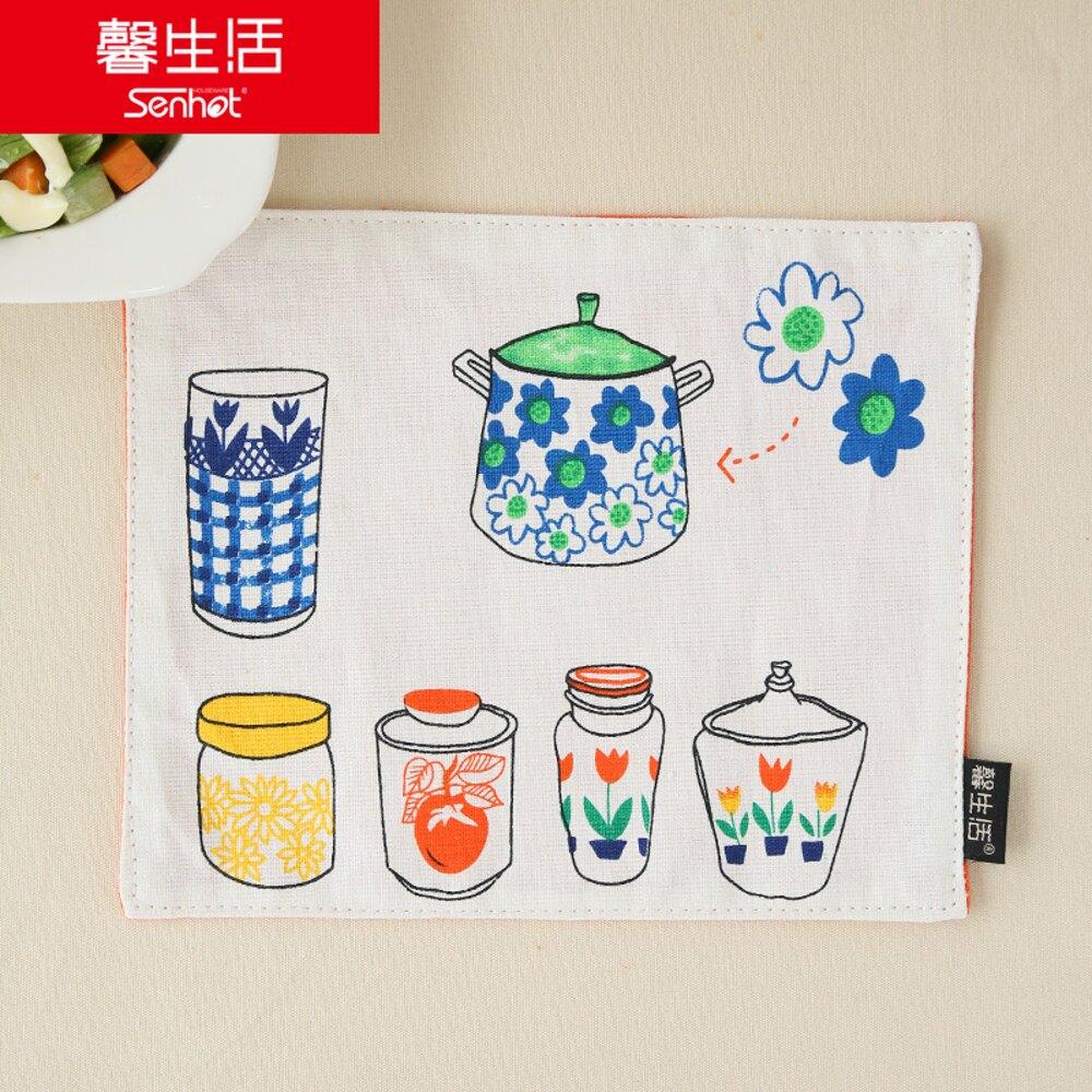 ✤宜家✤時尚可愛空間餐桌布 茶几布 隔熱墊 鍋墊 杯墊29 (二入)