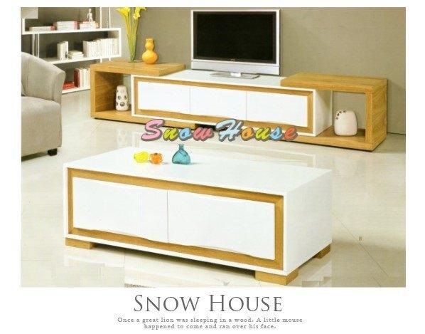 ╭☆雪之屋居家生活館☆╯AA420-04 KC-1423大茶几(實木面板)/收納櫃/置物櫃/置物桌/130公分寬