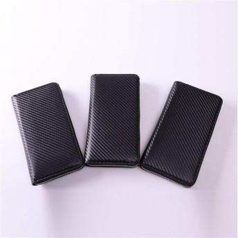 L.Z.H メンズ 財布 柔らかい 大容量 盗難防止 高級 多機能 軽量 ビジネス シンプル ウォレット (Color : Black, Size : S)