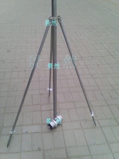 茶場果園苗圃移動式節水噴灌溉設備噴頭立桿支架三通加堵頭5件套1入