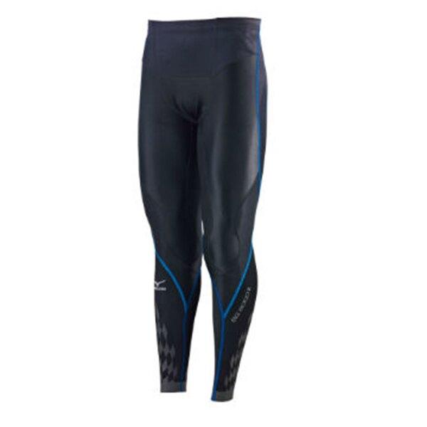 【滿額最高折318】Mizuno BG8000 II 男裝 褲子 長褲 緊身 彈性 抗紫外線 黑 藍 【運動世界】K2MJ5B0192