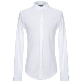 《セール開催中》MAURO GRIFONI メンズ シャツ ホワイト 39 コットン 100%