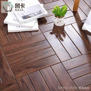 戶外木地板塑木地板花園露臺陽臺地板防腐實木地板diy地板 LannaS YTL
