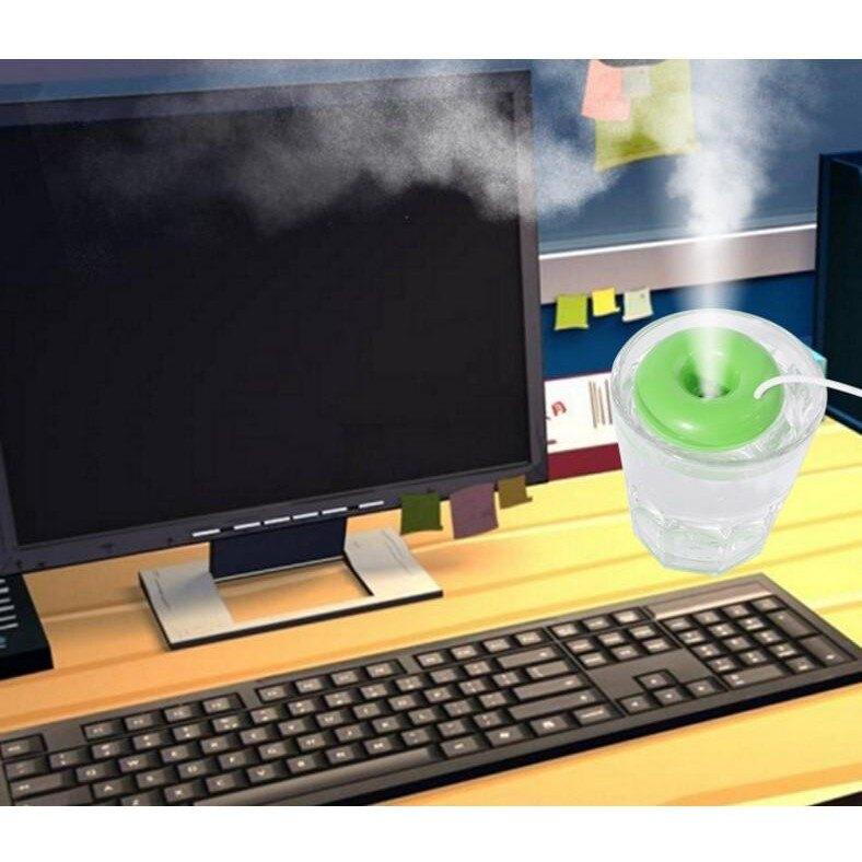 加濕器【甜甜圈加濕器】桌面 迷你加濕器 USB加濕器 辦公室 方便式空氣淨化器 甜甜圈