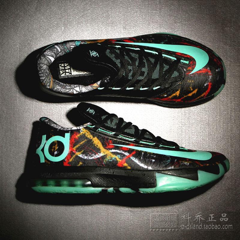 科喬正品 6杜蘭特6代籃球鞋全明星夜光戰靴低幫男鞋 647781-930
