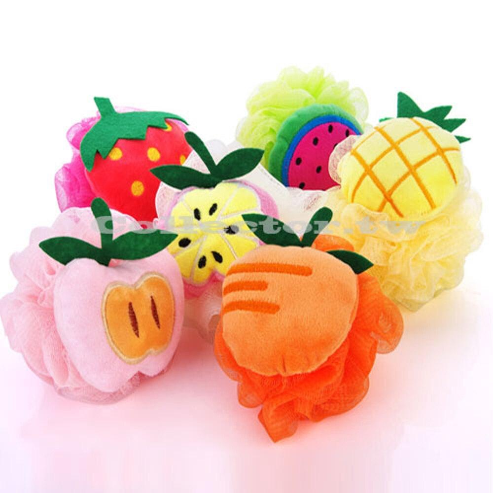 ✤宜家✤可愛水果造型彩色掛繩沐浴球 加厚沐浴球 起泡沐浴球