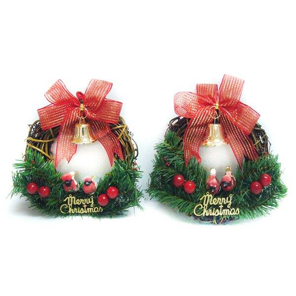 摩達客 聖誕快樂對鳥樹藤花圈對組(一組兩入)(本島免運費)YS-BW16003