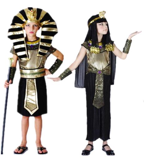 東區派對- 萬聖節服裝,萬聖節服飾,變裝派對,兒童變裝服-兒童埃及豔后/法老王服裝