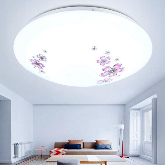 LED吸頂燈圓形現代簡約臥室燈具餐廳燈客廳燈書房燈陽臺過道燈飾50公分
