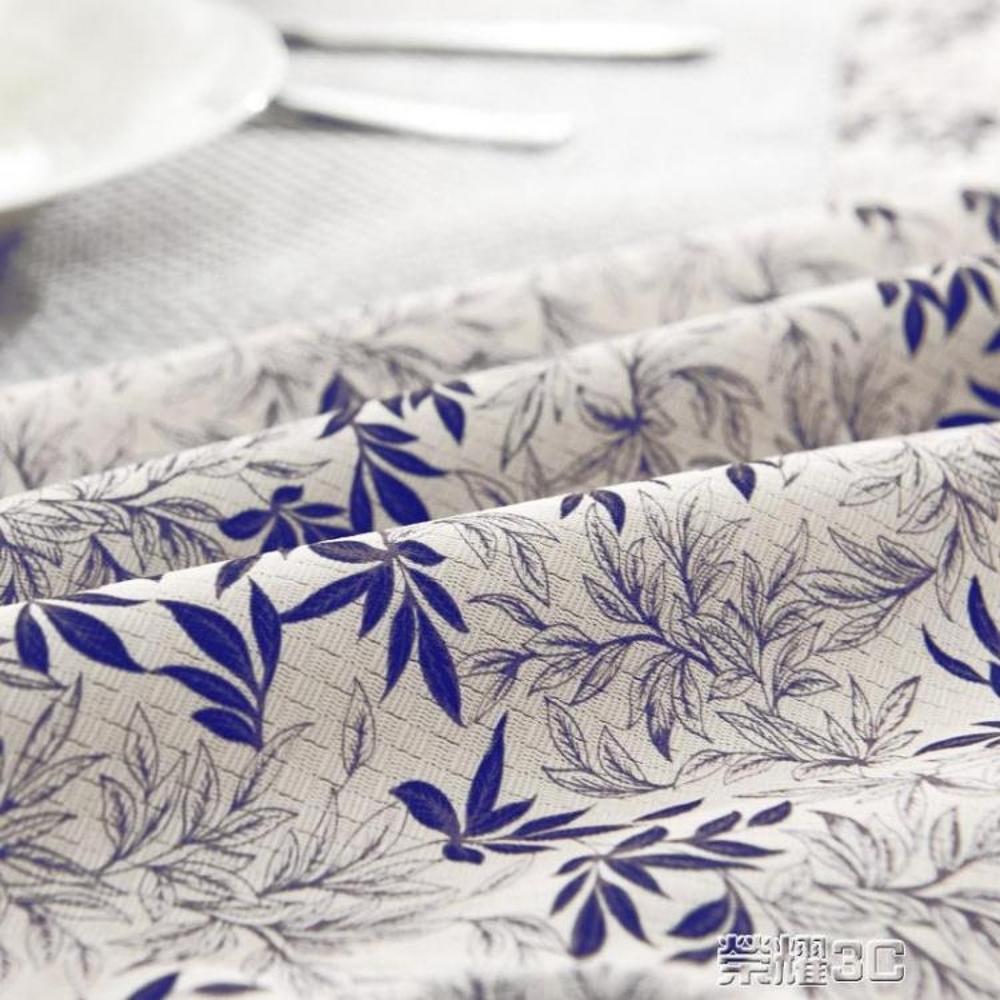 桌巾 歐式美式桌布布藝棉麻長方形田園小清新茶幾圓桌方餐桌蓋布巾